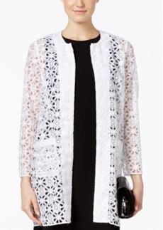 Alfani Prima Long Open-Front Lace Cardigan, Only at Macy's