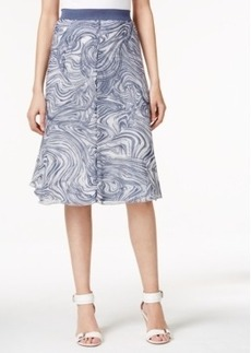 Alfani Printed A-Line Midi Skirt, Only at Macy's