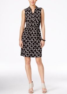 Alfani Printed A-Line Shirtdress, Only at Macy's