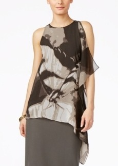 Alfani Printed Asymmetrical Blouse, Only at Macy's
