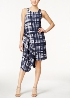 Alfani Printed Asymmetrical-Hem Dress, Only at Macy's