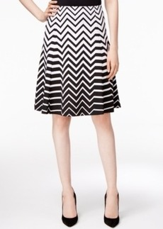 Alfani Printed Fit & Flare Skirt, Only at Macy's