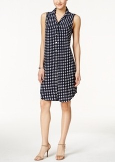 Alfani Printed Sleeveless Shirtdress, Only at Macy's