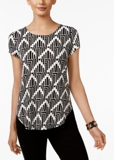 Alfani Printed T-Shirt, Only at Macy's