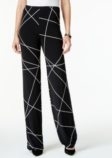 Alfani Printed Wide-Leg Knit Pants, Only at Macy's