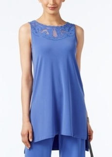 Alfani Sleeveless Applique Tunic, Only at Macy's