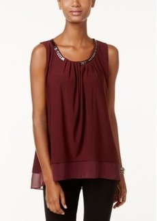 Alfani Sleeveless Chain-Neck Top, Only at Macy's