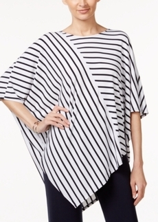 Alfani V-Hem Striped Poncho Top, Only at Macy's