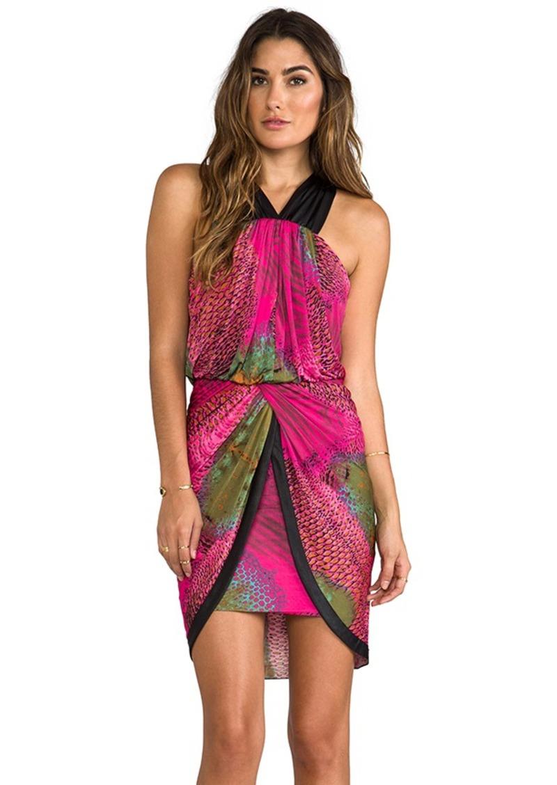 T-Bags LosAngeles Cross Back Tulip Dress in Pink
