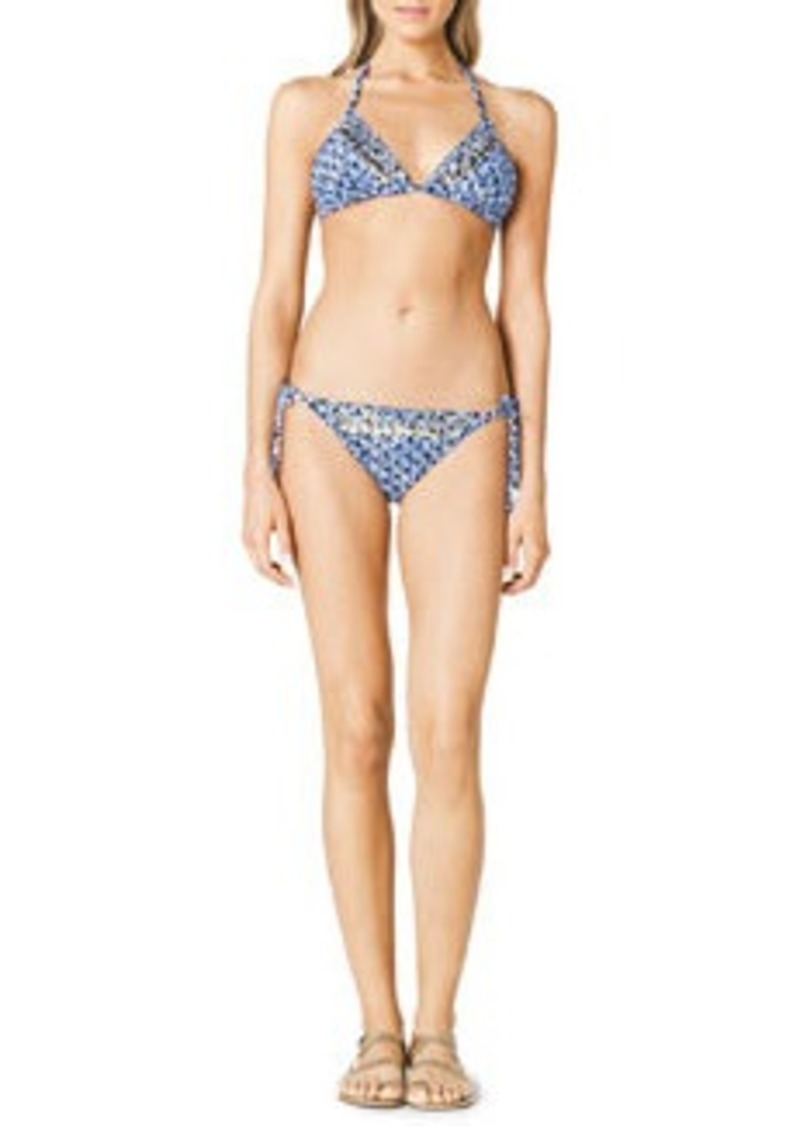 MICHAEL Michael Kors Triangle Beaded Bikini Top