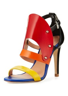 L.A.M.B. Gareth Cutout Studded Leather Sandal