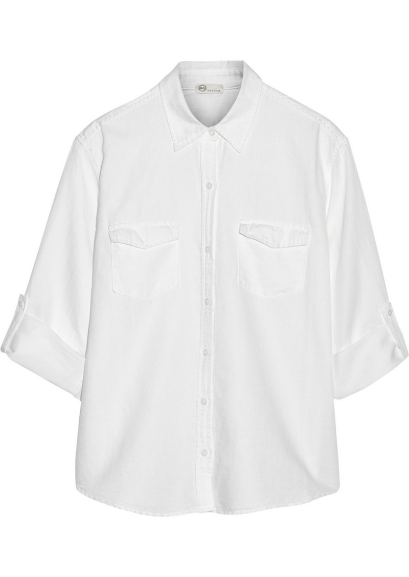 AG Jeans Samantha cotton-blend twill shirt
