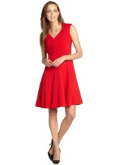 Calvin Klein red cap sleeve swing dress