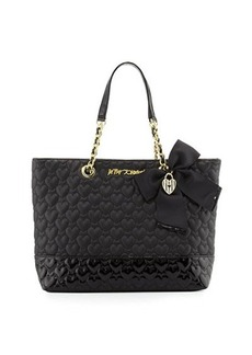 Betsey Johnson Be Mine Quilted Tote Bag