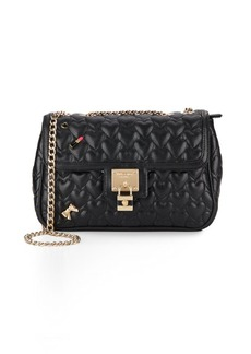 Betsey Johnson Be My Baby Quilted Faux Leather Crossbody