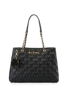 Betsey Johnson Bee Mine Heart-Quilted Tote Bag