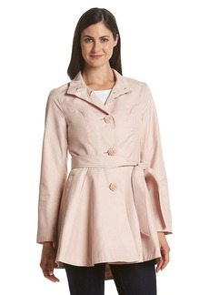 Betsey Johnson® Belted Fit And Flare Coat