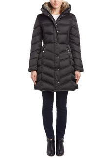 Betsey Johnson Betsey Johnson Faux Fur Trim Dow...