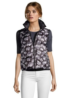 Betsey Johnson black and grey floral print reve...