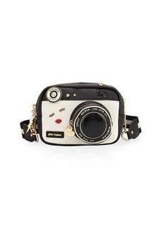 Betsey Johnson Camera Faux-Leather Crossbody Bag