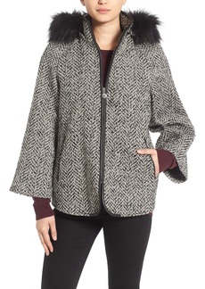 Betsey Johnson Coat with Faux Fur Trim
