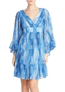 Betsey Johnson Cotton Blend Babydoll Dress