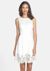 Betsey Johnson Cutout Stretch Fit & Flare Dress