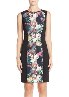 Betsey Johnson Floral Print Knit Sheath Dress