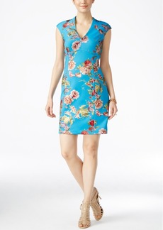 Betsey Johnson Floral-Print Sheath Dress
