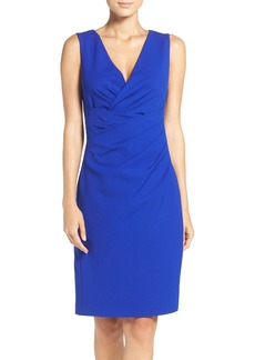 Betsey Johnson Gathered Crepe Sheath Dress
