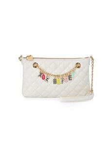 Betsey Johnson Give Me A B Quilted Crossbody Bag