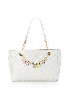 Betsey Johnson Give Me A B Quilted Satchel Bag