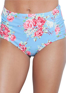 BETSEY JOHNSON Hi-Waist Floral Swim Bottom