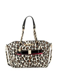 Betsey Johnson Hidden Treasure Leopard-Print Satchel Bag