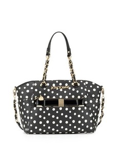 Betsey Johnson Hidden Treasure Polka-Dot Satchel Bag