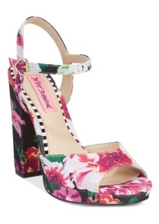 Betsey Johnson Isla Two-Piece Platform Sandals Women's Shoes