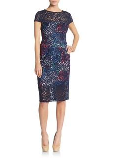 Betsey Johnson Lace Illusion Sheath Dress