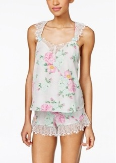 Betsey Johnson Lace-Trim Tank and Shorts Set