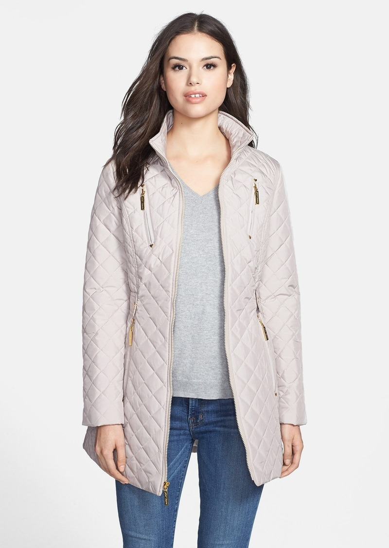 Betsey Johnson Lace-Up Back Quilted Jacket (Online Only)
