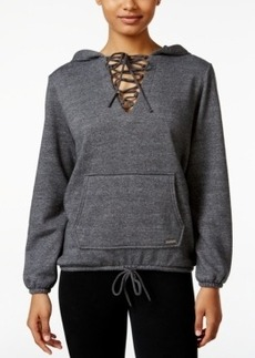 Betsey Johnson Lace-Up Hoodie