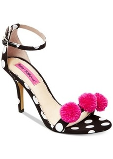 Betsey Johnson Lylly Two-Piece Pom-Pom Sandals Women's Shoes