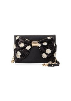 Betsey Johnson Oh Bow Sequined Wallet-On-Chain