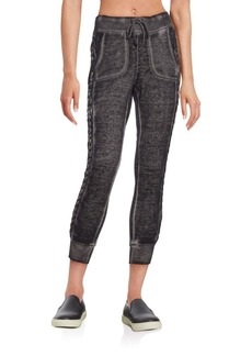 Betsey Johnson Performance Braided Jogger Pants