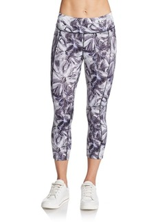 Betsey Johnson Performance Foil-Print Active Leggings