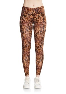 Betsey Johnson Performance Leopard-Print Leggings