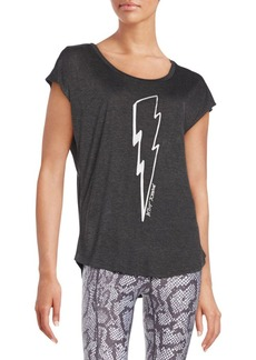 Betsey Johnson Performance Lightning Bolt Top