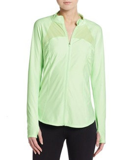 Betsey Johnson Performance Mesh Insert Zip Jacket