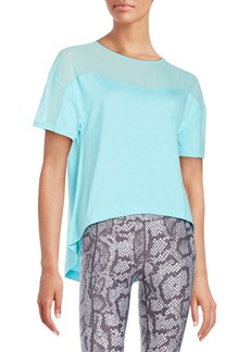 Betsey Johnson Performance Mesh Inset Cotton Tee