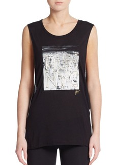 Betsey Johnson Performance Run NYC Muscle Tank Top
