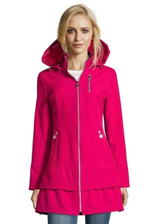 Betsey Johnson pink water resistant zip front h...